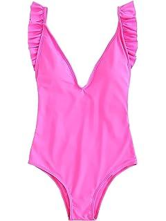 1a32f9902e3 YDX Women s Open Back Medium Coverage Swimsuit Monokini One Piece ...