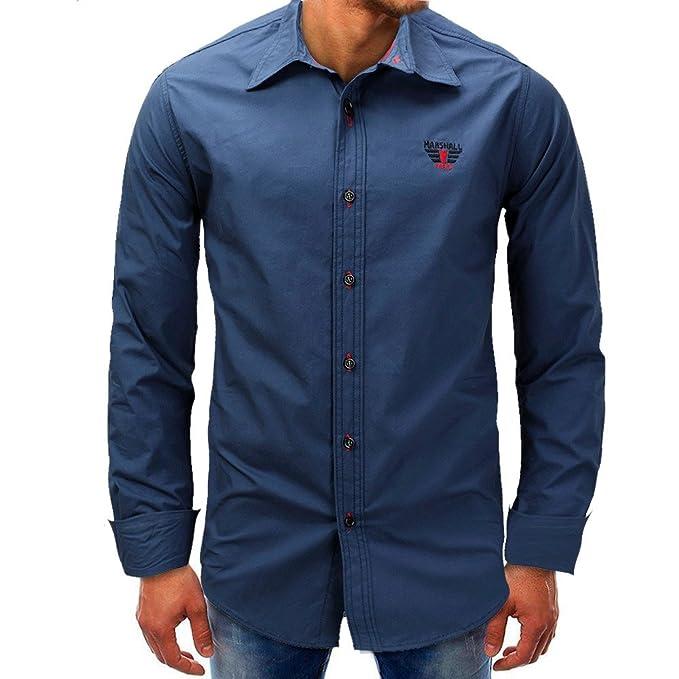 Camisa para Hombre, Winwintom Blusa Casual De Manga Top De Color ...