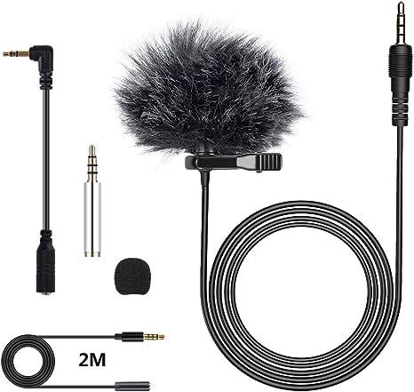 Micrófono de Solapa, Stone TH Omnidireccional Lavalier Micrófono ...