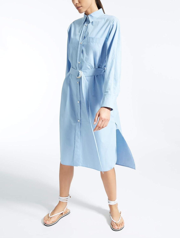 (マックスマーラ) MaxMara Women`s Cotton poplin dress 女性のコットンポプリンドレス(並行輸入品) B07GNBXGG5 IT 42|cielo cielo IT 42