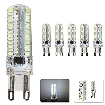 Questway ® x 5 bombillas LED G9, 4W-Bombilla LED, luz blanca fría