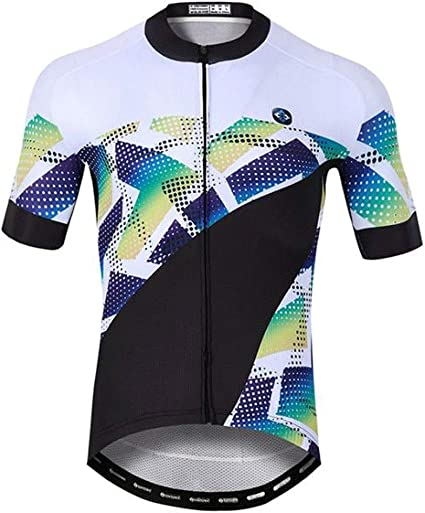 Mens Short Sleeve Cycling Jersey  Road Bike Shirt Shorts Set Bib Outdoor Sports