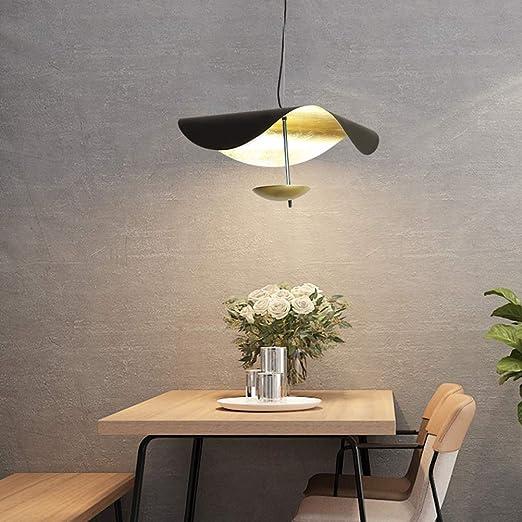 Amazon.com: Moderna lámpara de araña de hierro dorado LED ...