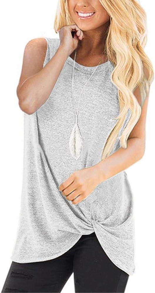 Aranmei Camisetas de Tirantes para Mujer, Mujeres Sexy de Hombros sin Mangas del Tanque Tops Chaleco Camiseta Blusa Primavera Verano Otoño Camisa(Gris, Medium): Amazon.es: Ropa y accesorios