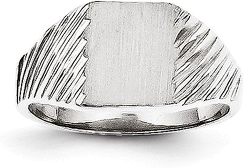 Jewelry Adviser Rings 14k White Gold Signet Ring