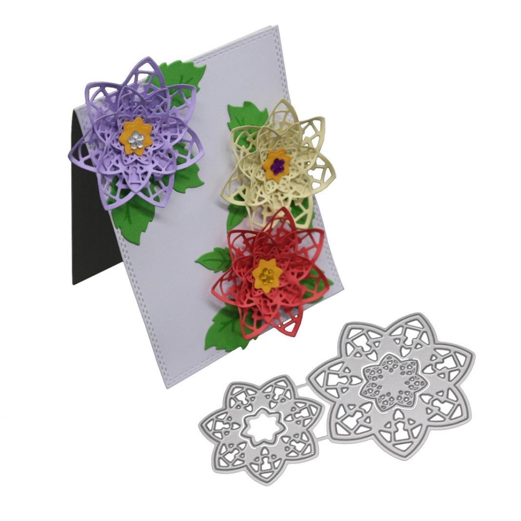 Scrapbooking Meurt de decoupe YUYOUG Matrices de découpe - Bricolage Découpage Carré Stencils - Bricolage Album DIY- Embossing Card Album de Scrapbooking
