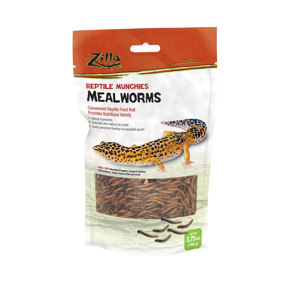 Zilla Reptile Munchies Mealworm, 3.75-Ounce 100109951