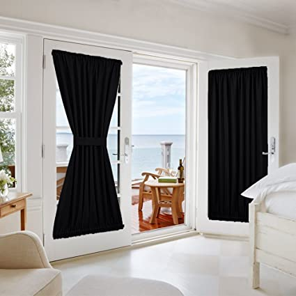 NICETOWN Privacy Door Curtain Panel   Practical Thermal Insulated Blackout  Drapery And Drape For French Door
