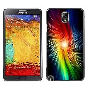 Be Good Phone Accessory // Dura Cáscara cubierta Protectora Caso Carcasa Funda de Protección para Samsung Note 3 N9000 N9002 N9005 // Star Rainbow Light Black