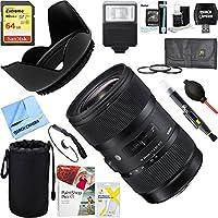 Sigma AF 18-35mm f/1.8 DC HSM Lens for Canon (210-101)+ 64GB Ultimate Filter & Flash Photography Bundle