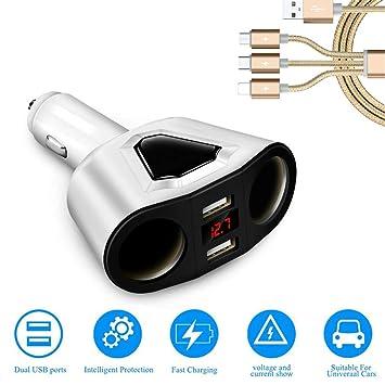 Zyx Quick Charge 3.0 Cargador De Coche, 12V/24V Adaptador ...