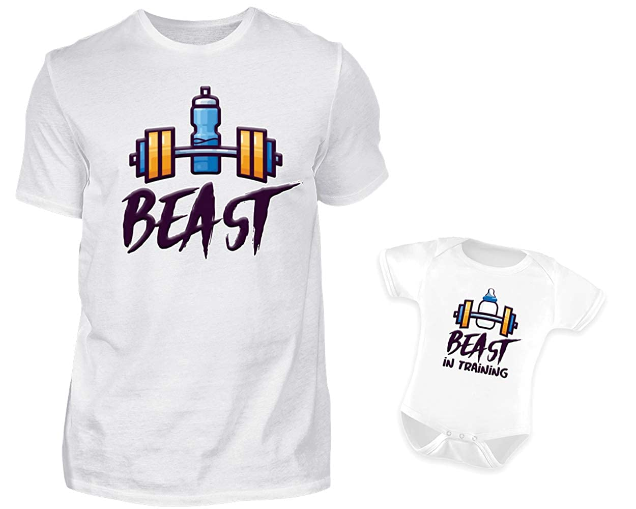 Vater Baby Partnerlook Set Tshirt Baby Body Strampler Set Father of A Princess Daughter of A King Rundhals Vater Tochter