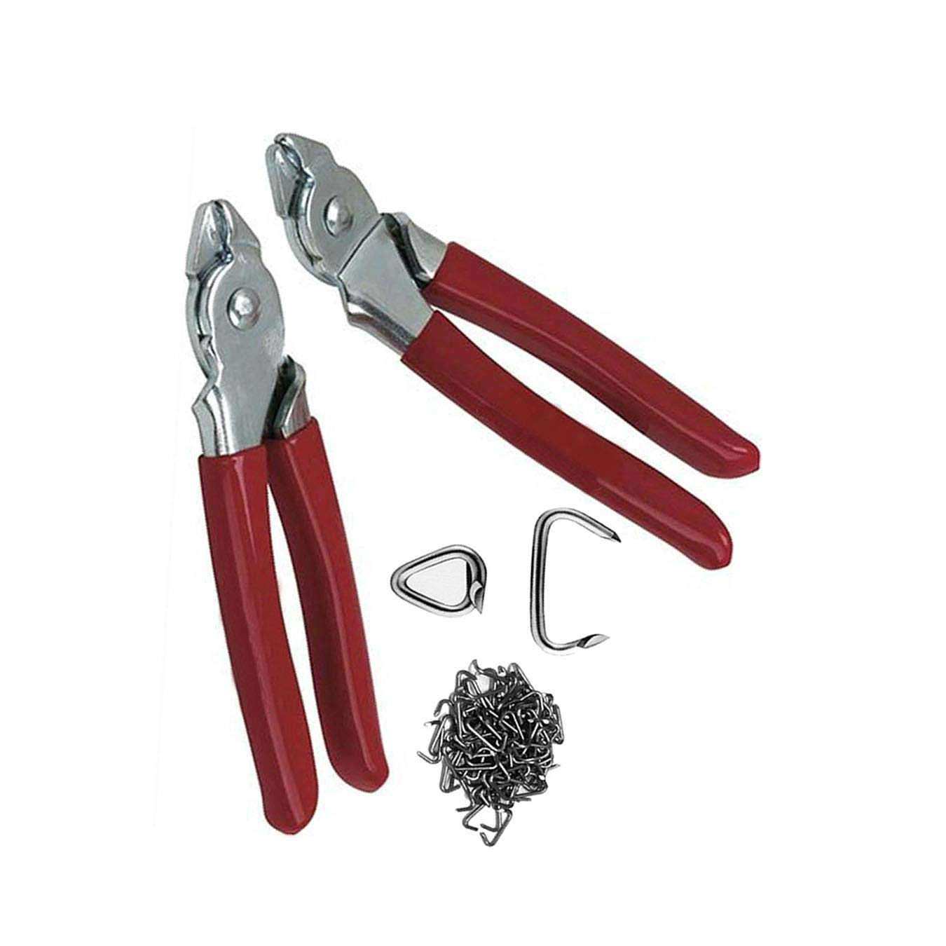 Hog Ring Pliers 170 Rings 3/4 Kit Straight and Bend 2 plier for Automotive Upholstery Supplies Tools by Drake Off Road