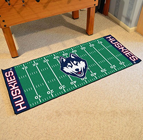 NCAA University of Connecticut Football Field Runner, Small, Black ()
