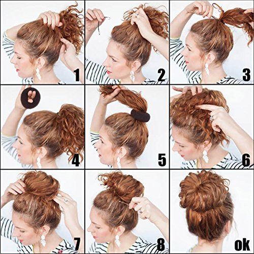 QY 3PCS Hair Mesh Chignon Donut To Make Hair Bun Best Age Re