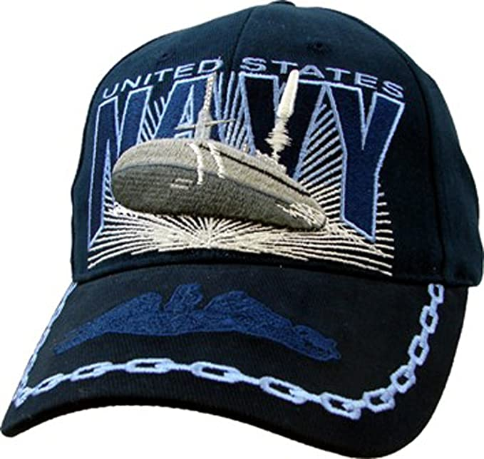Amazon.com  U.S. Navy Submarine Cap. Navy Blue  Clothing 41d1a14d25f4