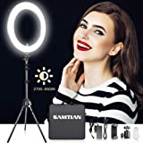 """18 Inches Adjustable 2700-5500K Color Temperature Ring Light, SAMTIAN Dimmable SMD LED Ring Light Photography Video Lighting Kit with 78"""" Light Stand, Phone Holder for YouTube, Portrait, Vlog, Makeup"""