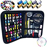 #6: 130 Mini Sewing Kit, Southsun DIY Premium Sewing Supplies for Kids, Beginner, Travel, Emergency with Scissors, Thimble, Thread, Needles, Tape Measure, Carrying Case and Accessories