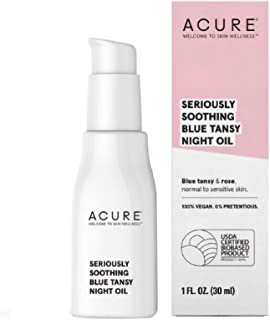 product image for Acure Seriously Soothing Blue Tansy Night Oil 100% Vegan For Dry To Sensitive Skin Blue Tansy & Rose Oil, 1 Fl Ounce, (), EB1121