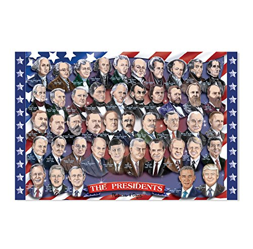 Melissa & Doug Presidents of the USA Floor Puzzle (100