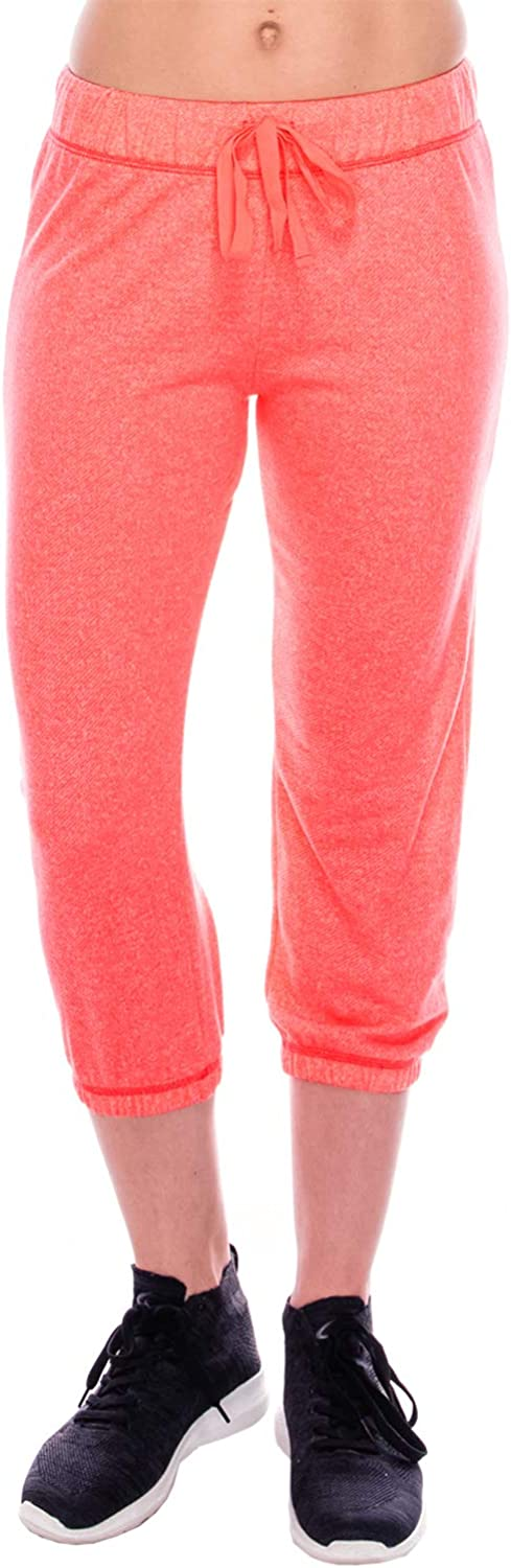 Womens French Terry Capri Jogger Available in Multiple Sizes /& Colors!