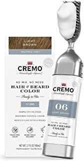 product image for Cremo No Mix, No Mess Hair and Beard Color, Light Brown, 2.7 Fl Oz
