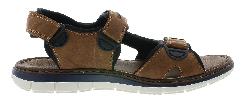 Rieker 25159 Men Trekking Sandals,Outdoor Sandal,Sport Sandal,3-fold Velcro