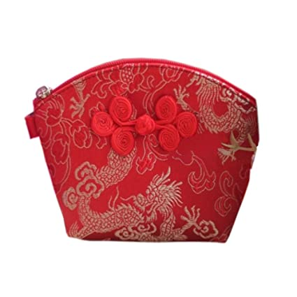 Amazon.com   Chinese Style Classic Silk Pocket Coin Purse Wallet ... 948db4200