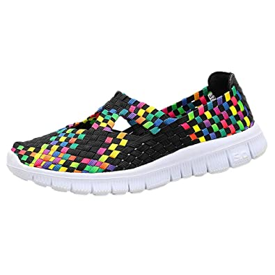 Anglewolf Women's Water Shoes Walking Shoes Woven Light