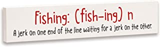 product image for Imagine Design Relatively Funny Country Living Fishing: A Jerk On One End, Stick Plaque, Red/Black/White