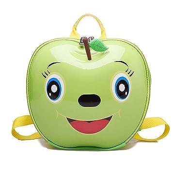24f100615 OOFAY Bolso De Escuela para Niños Y Niñas Jardín De Infantes Manzana Doble  Hombros Bolsa Lindo Cascara Mochila,Green: Amazon.es: Hogar