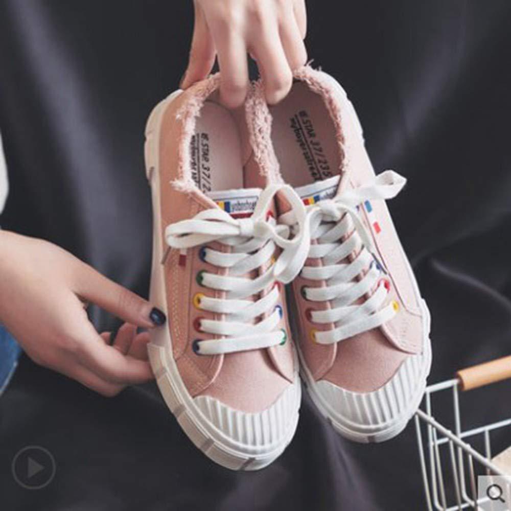 YSFU scarpe da ginnastica Scarpe da Donna Bianche in in in Tela con scarpe da ginnastica in Tinta Unita Scarpe da Ginnastica per Gli Studenti A Piedi Jogging Damping Fitness Traspirante Outdoor, 38 5a72d0