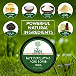 TreeActiv Face Exfoliating Acne Scrub Pads   Best Natural Blackhead Clearing Treatment   Safely Extracts and Removes Blackheads   Prevents Future Breakouts   Men Women Teens (4 oz)