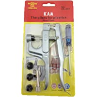 KAM Snap Press Pliers Kit Tool and 4 Dies Sizes (T3 T5 T8A and T8B) for KAM Plastic/Resin Snaps use to make Cloth Diapers Bibs Mama Pads