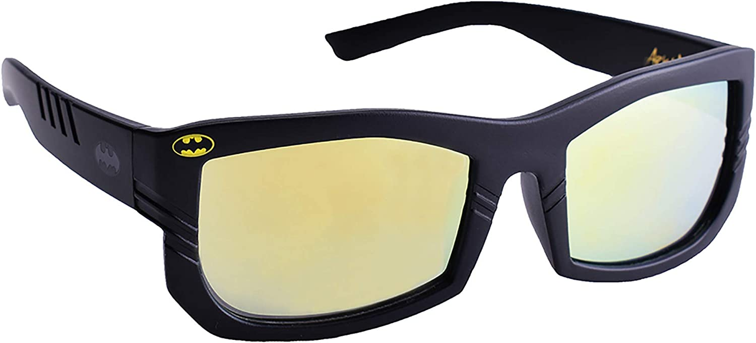One Size Fits All Kids Ages 3+ Batman Mirrored Sunglasses with Full UV Protection Easy Batman Costume Batman Party Supplies: Use for Party Props /& Favors Black Licensed Batman Arkaid Sunglasses