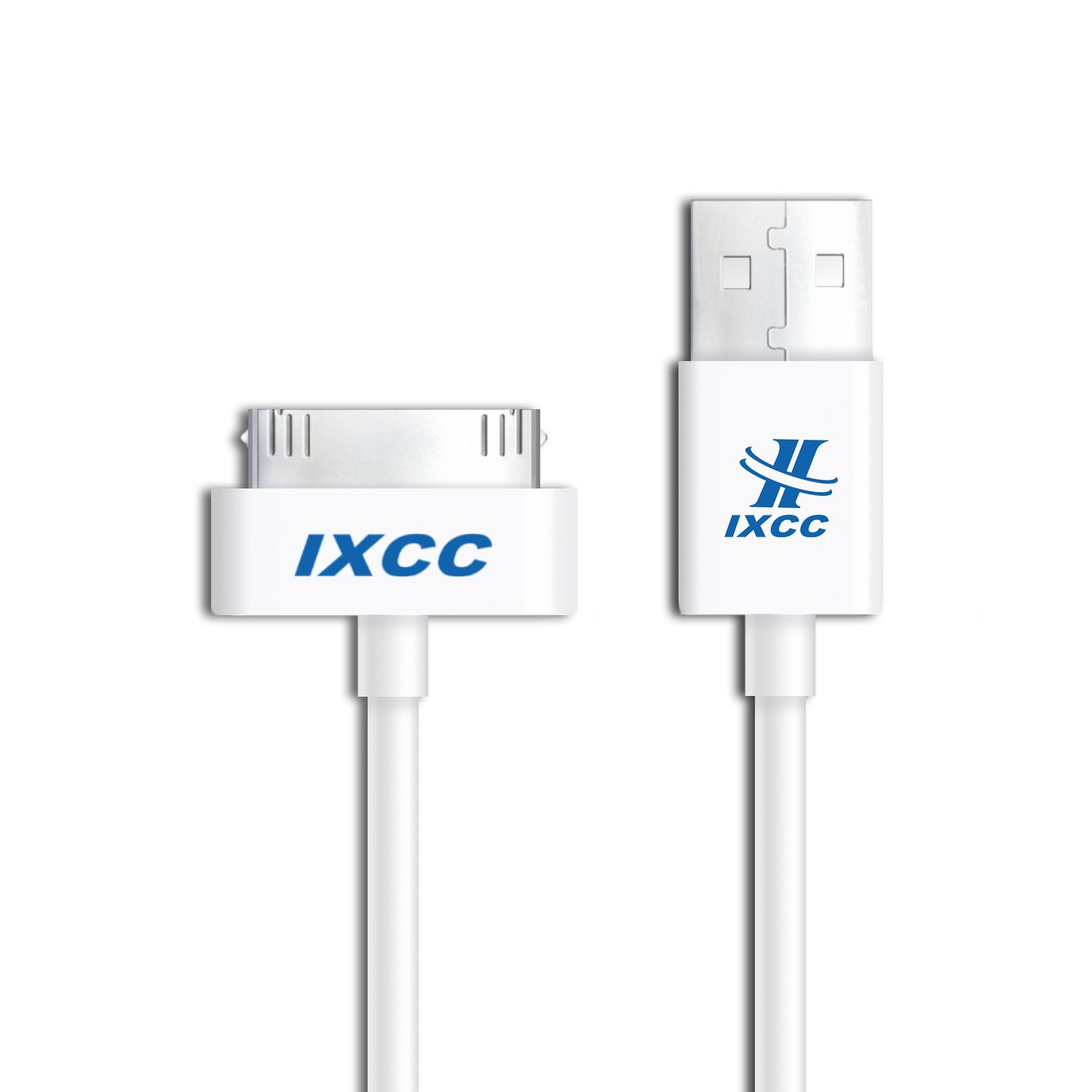 iXCC 10ft EXTRA LONG 30 Pin to USB SYNC and Charge Cable Cord for Apple iPhone 4/4s, iPod 1-6 Gen, iPod 1-4 Gen, iPad 1-3 Gen