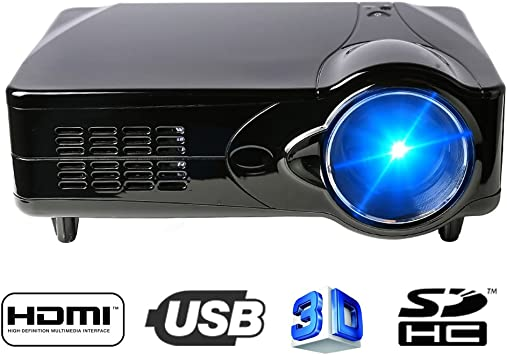 Flylinktech® D9HB Proyector LED HD Home Cinema Teatro Soporte USB ...