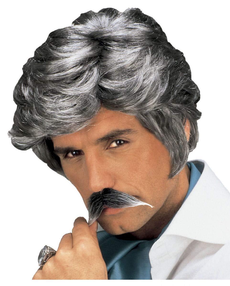 Playboy Wig and Moustache Grey (peluca): Amazon.es: Juguetes y juegos