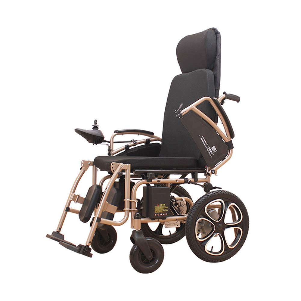 車いす 電動車いす、高齢者用インテリジェントリチウム電池車いす、折りたたみ式ポータブルケアスクーター (色 : Lithium battery)  Lithium battery B07H7LFDVR