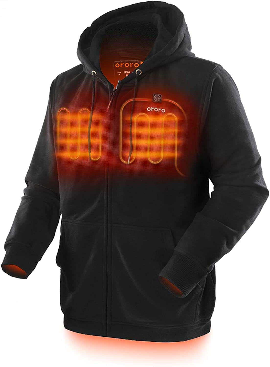 ORORO Heated Hoodie with Battery Pack (Unisex) 61d4mv1NDrL