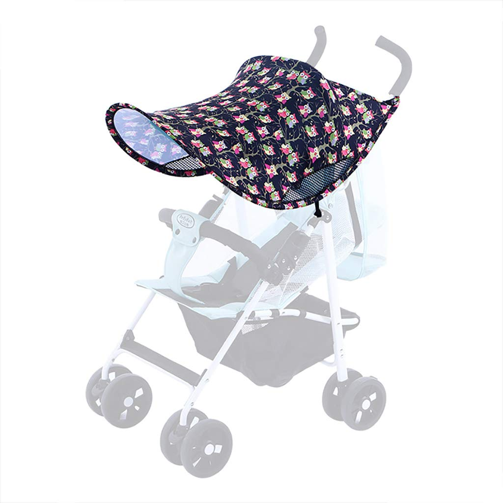 ZLMI Pushchairs Sunshade Universal Stroller Cover Anti-UV Pushchair Parasol Cover Buggy Sun Shade Cover (Blocks 99 UV),A