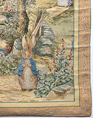 Peter Rabbit Beatrix Potter Heavy Tapestry Wall Hanging – Ready to Hang -36 x 46