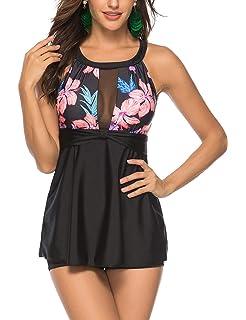 0e2bce9de Lover-Beauty Women s Tankini Swimsuit Floral Print Two Piece Bathing Suit
