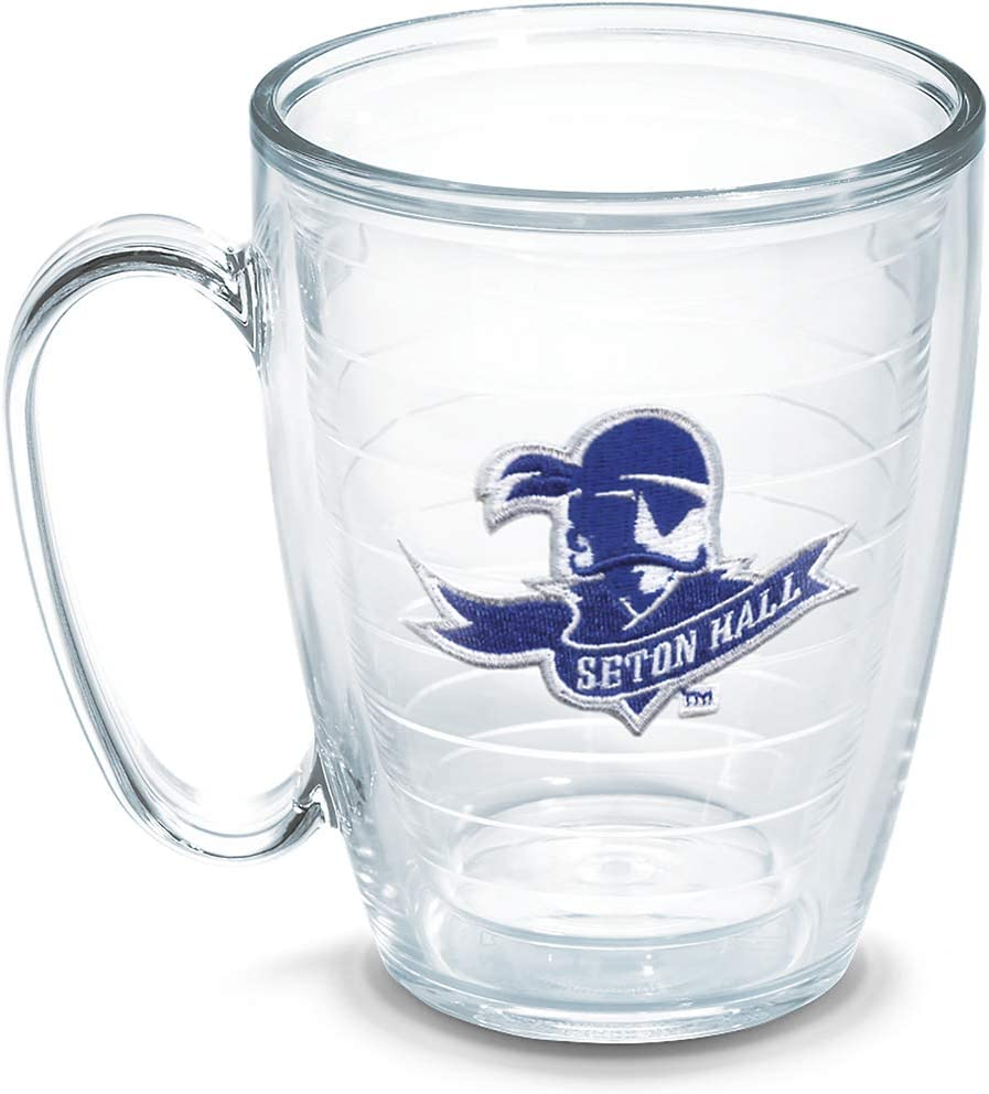 Tervis 1050348 Seton Hall University Emblem Individual Mug, 16 oz, Clear