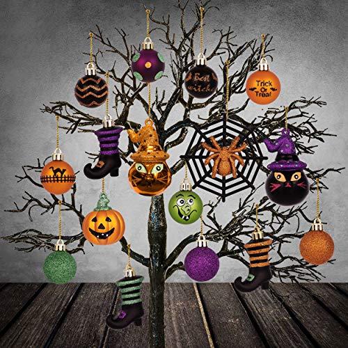 Halloween Tree Decorations - Valery Madelyn 24ct Shatterproof Halloween Ball