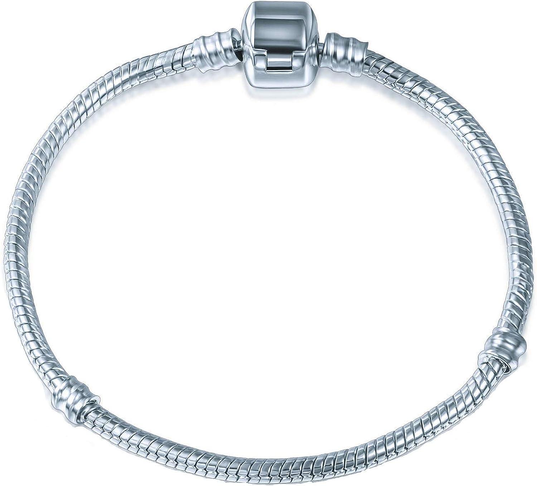 A TE Serpiente chapado en oro pulsera de cadena JWB00 (20) Plata