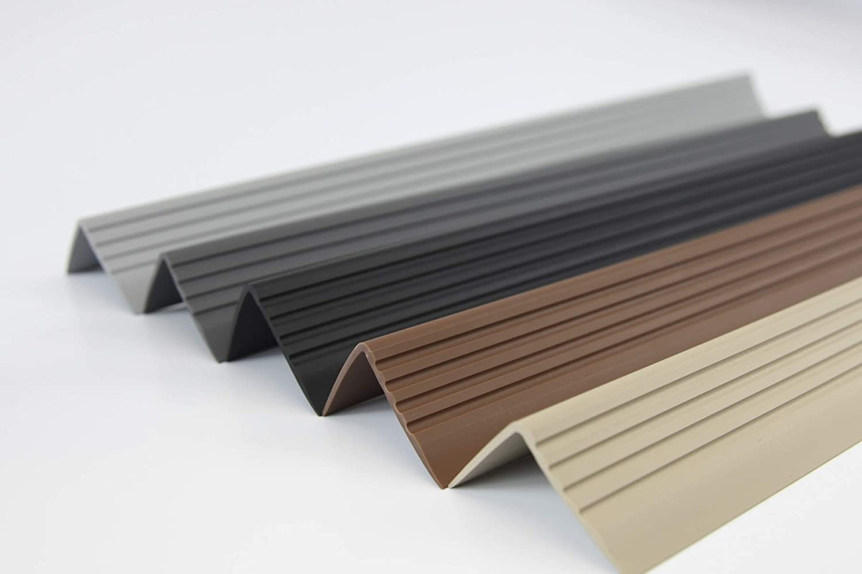 perfil angular PVC Perfil para bordes de escaleras goma autoadhesivo vinilo 50 x 42 RGP
