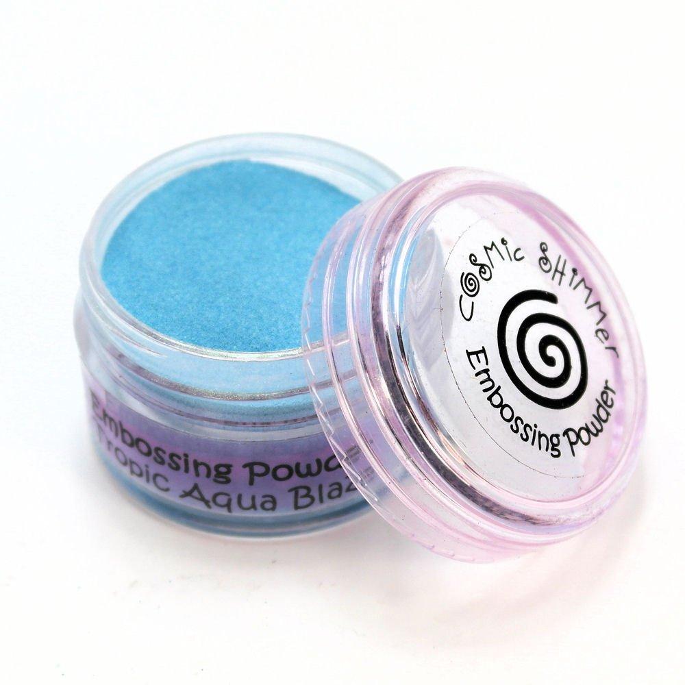 Cosmic Shimmer Blaze Empossing Powder, Tropic Aqua Creative Expressions CSEPTROAQ