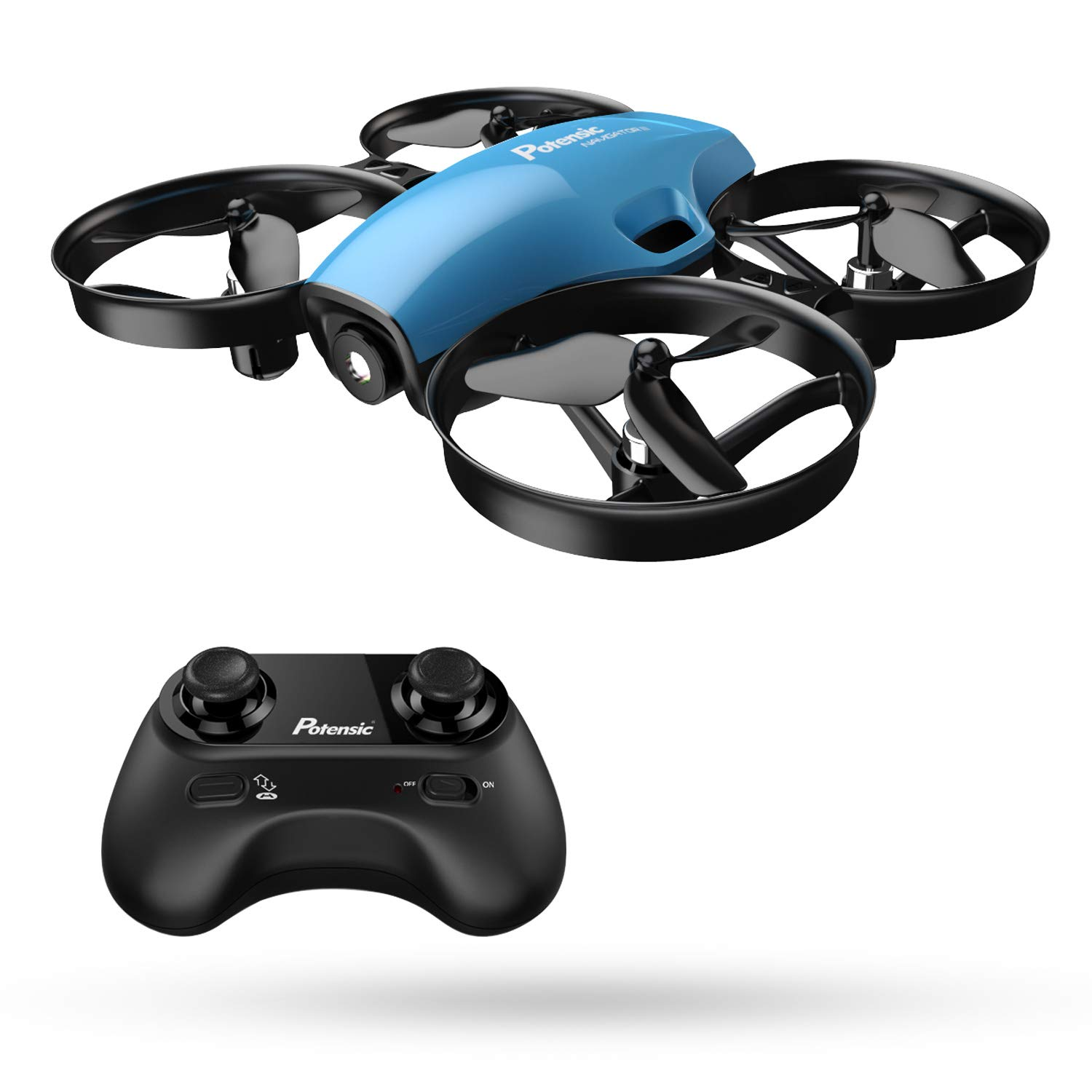 Mini Drone, RC Quadcopter, Potensic A30 One Key Take-Off/Land,Emergency Stopped, Altitude Hold,Auto Hovering,Drone for Kids (Blue) by Potensic (Image #1)