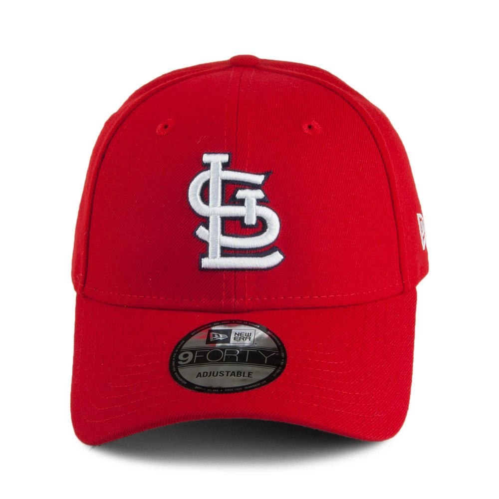 new arrivals cab75 6ac4e New Era 9FORTY St. Louis Cardinals Baseball Cap - League - Red Adjustable   Amazon.co.uk  Clothing